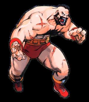 Street Fighter - Zangief as he appears in Street Fighter Alpha 3