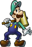 Luigi with his Ultra Hammer