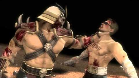 Mortal Kombat 9 Shao Kahn - all fatalities and win pose HD