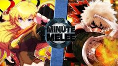 Yang vs Bakugo (RWBY vs My Hero Academia) One Minute Melee S6 EP11-0