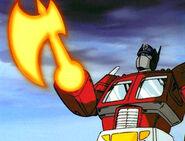 Optimus Prime's axe