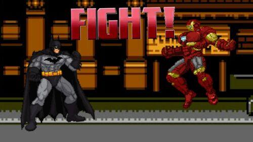 Bats vs Iron man