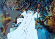 The Lord of The Rings - Gandalf The White as seen in the 1980s version of Return of The King