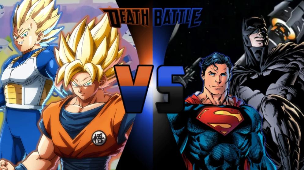 Goku and Vegeta vs Batman and Superman   Death Battle ...