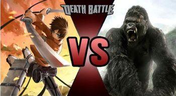 Eren Jaeger VS King Kong