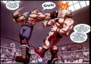 Street Fighter - Mike Hagger punching Zangief in the face