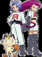 Team Rocket trio BW