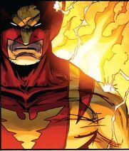 Wolverine as Dark Phoenix from Astonishing Spider-Man Wolverine Vol 1 5 001