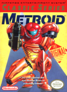 Metroid - Samus Aran as she appears on the Nintendo Classis Series Front Box Art