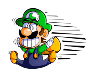 Cp super mario kun stylized luigi by miapon-d6jwvgg