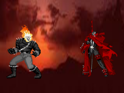 Scene Battle-Spawn VS Ghost Rider