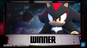 The winner is shadow the hedgehog