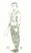 Mortal Kombat - First MK related sketch of Yoshitsune Minamoto (now Liu Kang) by John Tobias