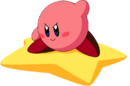 Kirby - Kirby riding on his Warp Star