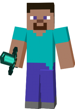 Image result for steve with a sword minecraft