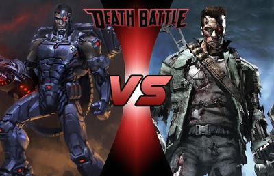 Death Battle Thumbnail Version 2 - Cyborg VS The Terminator