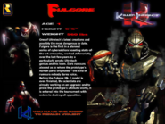 Killer Instinct - Fulgore's information as seen for the first Killer Instinct Game