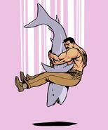 Haggar piledriving a shark by jnkboy-d3col7g