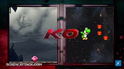 Kirby VS Yoshi KO