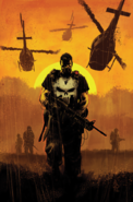 Marvel Comics - Punisher walking on the fields