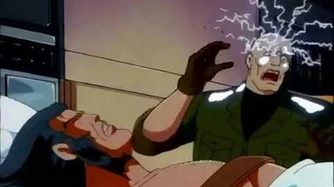 Professor X screaming