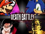 Mario (Paper) vs Sonic (Archie) vs Goku (Xeno) vs Superman (Strange Visitor)