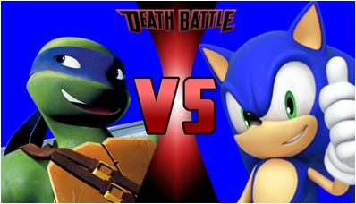 Leonardo vs Sonic the Hedgehog