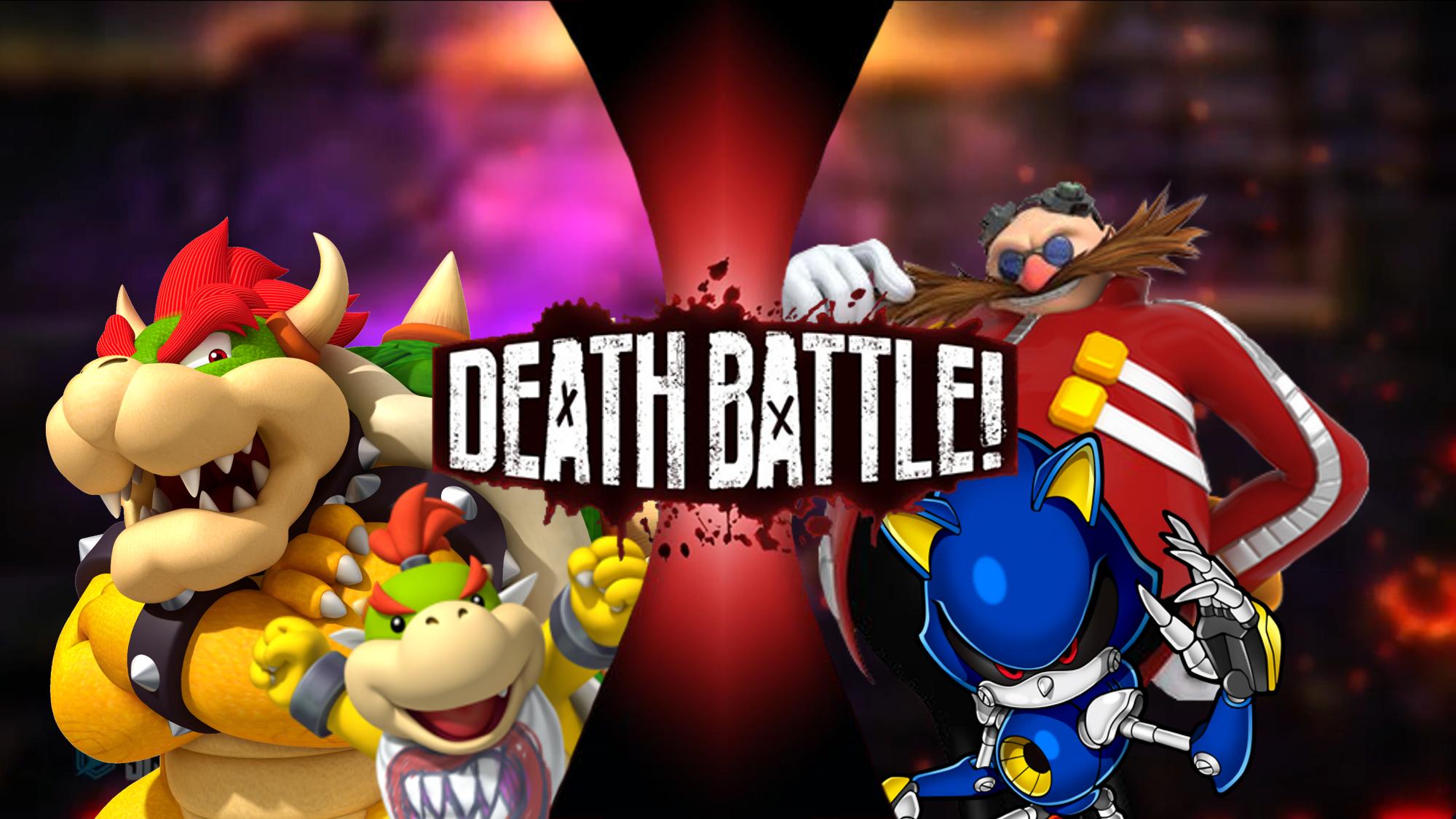 Bowser and Bowser Jr  VS Dr  Eggman and Metal Sonic | Death Battle