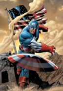 Marvel Comics - Captain America throwing his shield