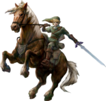 The Legend of Zelda - Link riding Epona as seen in Twilight Princess