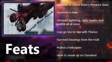 Deadpool feats