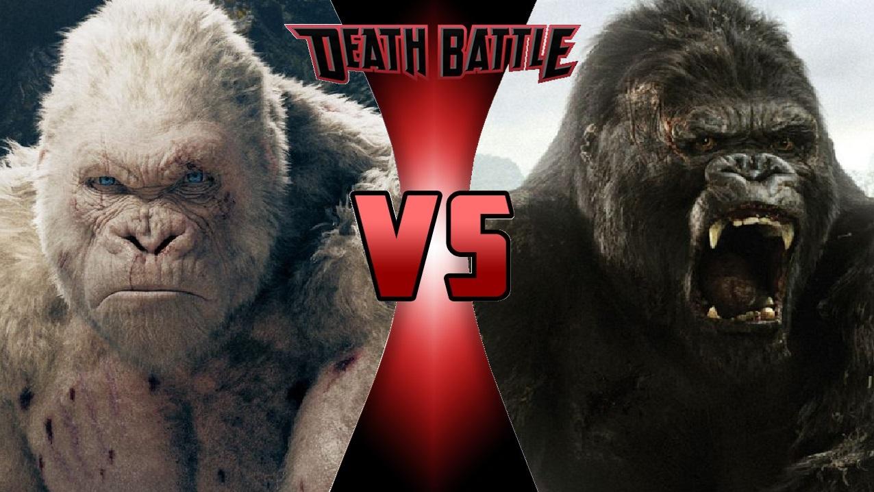 george the ape vs  king kong