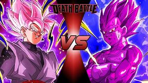 Goku Black vs Copy Vegeta