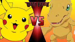 Pikachu vs Agumon