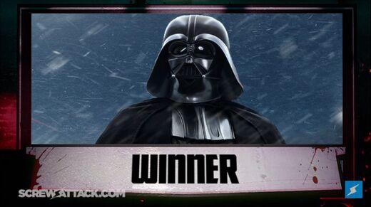 Darth Vader is the winner