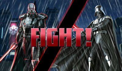 Saber clash under the rain