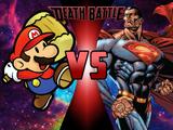 Cosmic Armor Superman VS Paper Mario
