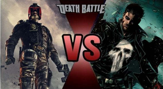 Judge dredd vs punisher by fevg620-d8dygr3