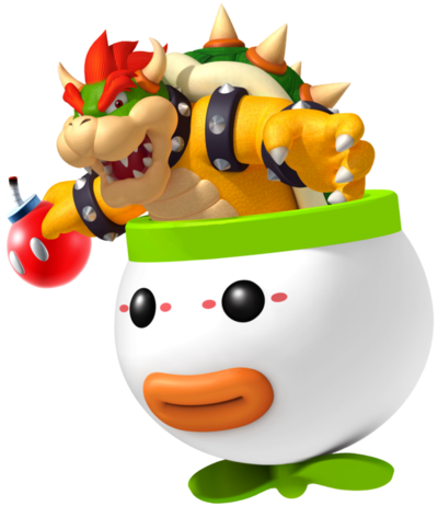 Bowser in clown car
