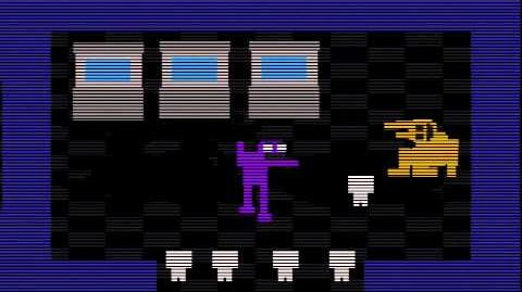FNAF 3 purple guy's death mini-game