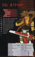 Guilty Gear - Sol Badguy's Information Card