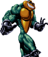 Battletoads - Zitz as he appears in sprite form