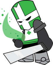 Castle crashers the green knight by hoodie stalker-d5ietxa