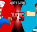 Steve(Minecraft) vs Mario