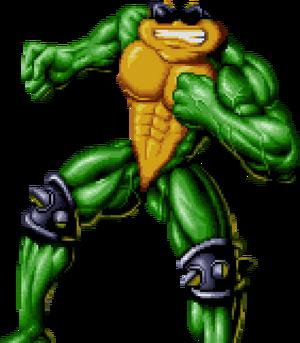 Battletoads - Rash as he appears in sprite form
