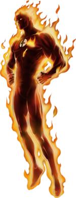 Human Torch Right Portrait Art