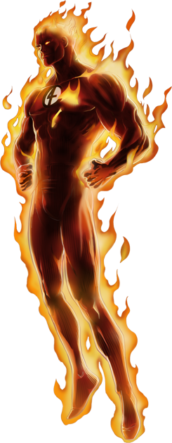 Human Torch Right Portrait Art