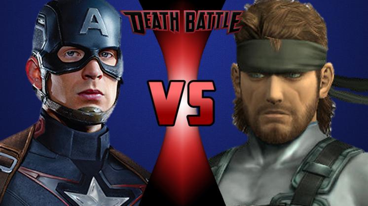 CAPTAIN AMERICA vs NAKED SNAKE! (Marvel vs Metal Gear