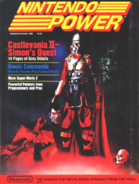 Castlevania II Simon's Quest - Simon Belmont as seen on the front cover of Nintendo Power