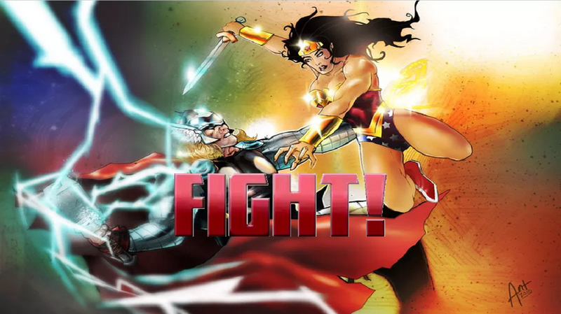 Thor vs WW FIGHT